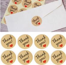 120pcs Thanksgiving Seal Label Sticker Thank You Tag Gift Tag Label Marks party favors Accessories vintage wedding decoration(China)