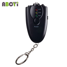 100 Pcs Portable Digital 3 Flashlight Keychain Breath Cheap Alcohol Tester (0.05% BAC) Red LED Light Alarm Breathalyzer Analys