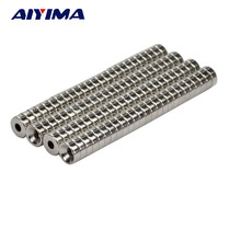 AIYIMA 100pcs 8x3mm Hole 3mm Round Diameter Magnet 8*3*3mm Rare Earth Neodymium Magnets Door Magnetic Tape Screw 8mmx3mmx3mm