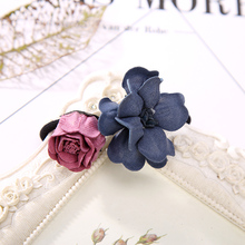 Buy Korean New Fashion Double Flowers Elastic Hair Ring Rubber Bands Women Girls Headbands Hair Accessories for $1.11 in AliExpress store