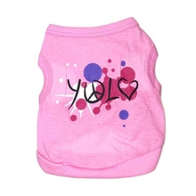 Soft Pure Cotton Jersey Dog Vest Love Sky Patterned Pet Clothing Life Vest Jacket Pink Warm Dog T Shirt Ubranka Dla Psa #555(China)