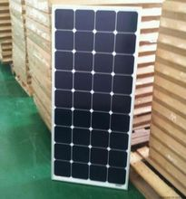 Professional manufacture of solar power technology, white or black monocrystalline silicon solar panels, 100w efficiency