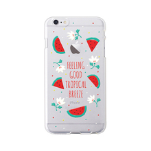 2017 Fashion summer cool flower fruit watermelon pear orange banana pineapple clear soft tpu cell phones case cover For Iphone
