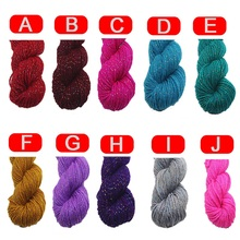 Buy Medium-Thick Acrylic Knitted Yarn Crotch Wool Yarn Fashionable Accessories Weaving Soft Scarves Carpets Winter for $1.45 in AliExpress store