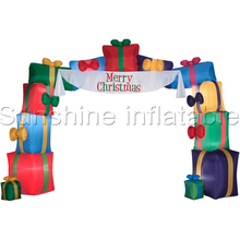 10ft Inflatable Christmas Arch with Gifts Entrance Archway Inflatable Christmas Decorations