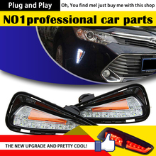 DXOne-Stop Shopping for Camry LED DRL New Camry V55 Daytime Running Light Fog Lamp Car Styling Automotive Accessories