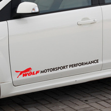 5 Pairs Customization Wolf MOTORSPORT PERFORMANCE Car Door stickers Decal For ford focus 2 fiesta mondeo kuga fusion mustang