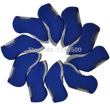 2017 New 10 pcs BLUE color Branded Golf Iron Head Covers HeadCovers Free Shipping