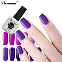 Vrenmol 1pcs Shiny Nail Gel Varnish Top Coat + Base Coat Soak Off Purple Series Gel Nail Polish UV LED Nail Gel Glue