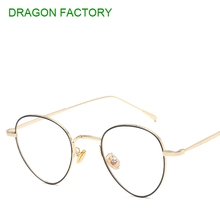 new metal flat mirror  for men and women  general female male glasses retro round designer glasses frame DZ0191