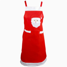 10 Pcs / Lot Santa Claus Apron Dinner Kitchen Table Decoration Party Decor Xmas Pinafore Christmas Decorations for Home 2016