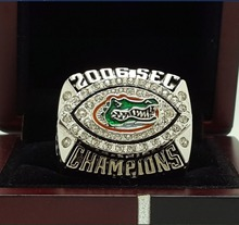 2006 FLORIDA GATORS SEC NCAA FOOTBALL National Championship Ring 7-15 Size Engraved Inside