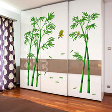 Green Bamboo Forest Wall Stickers Vinyl Material Decorative Films Living Room Cabinet Decoration Home Decor Stickers