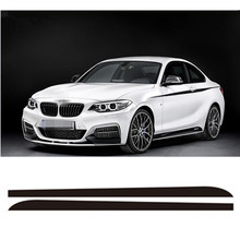 3-Colors M Sport M Performance Car Racing Stripe Sticker For BMW F22 F23 2 series 220i 228i 235i Side Skirt Decal