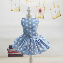 Fashion Dot Pet Dogs Clothing Comfortable Dog Dress Clothes For Dogs Tutu Skirt Supplies XS S M L XL