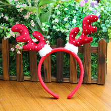 Christmas Hat Deer Head Hoop Christmas Hair Head Bell Red Antler Band Buckle Gifts Party Decoration Supplies P0.2(China)