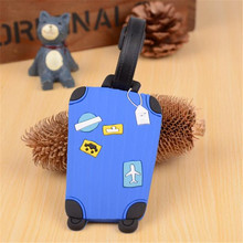Hot sale 1pc New Suitcase Cartoon Luggage Tags design ID Tag Address Holder Identifier Label travel Accessories(China)