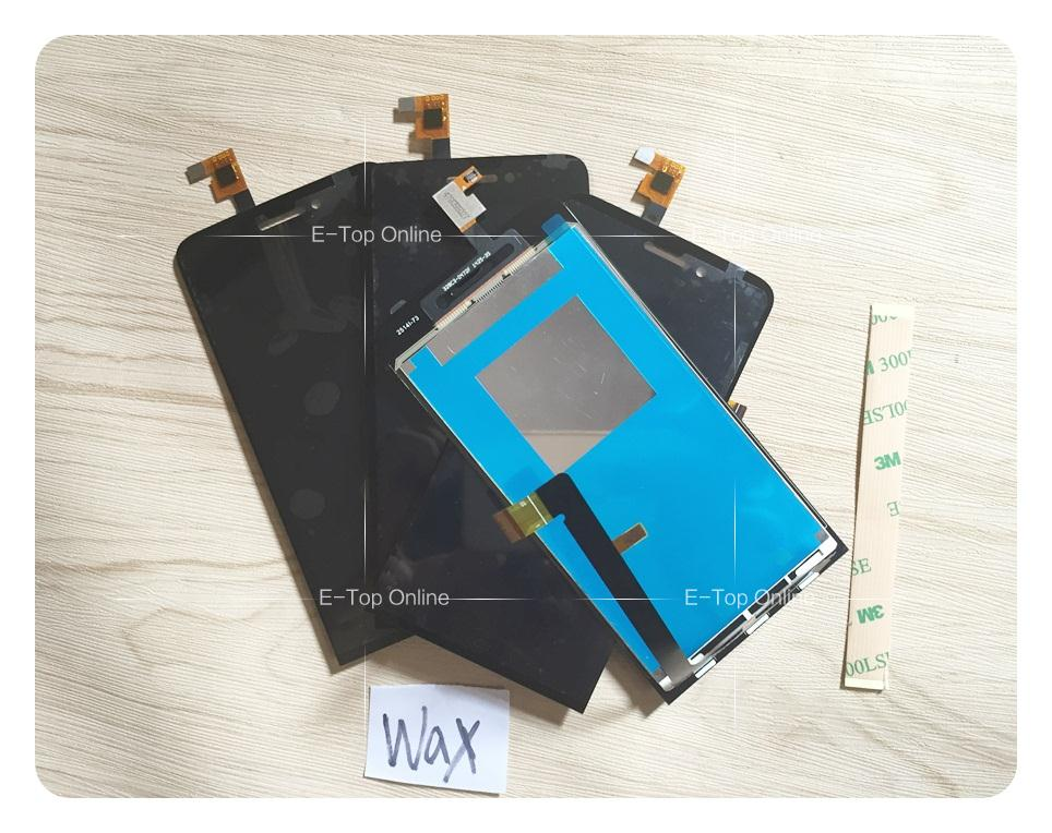 100% tested Original Black full screen for Wiko Wax LCD Display Screen with Touch Screen digitizer sensor Assembly + 3M sticker<br><br>Aliexpress