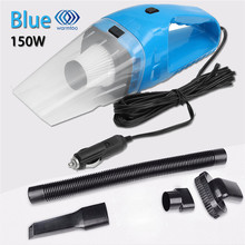 1Pcs DC12V 150W Super Suction Handheld Cyclonic Car Vehicle Vacuum Cleaner  Blue Rechargeable Wet Dry Duster