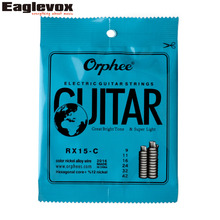 Colorful Electric Guitar String Color Nickel Alloy 009-042 inch Orphee RX15 - C(China)