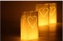 3000pcs/lot hot sale Luminarie Lantern Candle Bags for Wedding Party decorations(China)