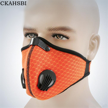 CKAHSBI Women And Men Sports Outdoor Cycling Breathable Carbon Filters Masks Dust Smog Protective Half Face Bike Neoprene Mask