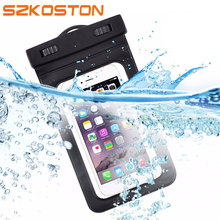 5.5'' Universal Waterproof Mobile Phone Bag Case Clear PVC Sealed Underwater Cell Smart Phone Dry Pouch Cover Swimming Diving