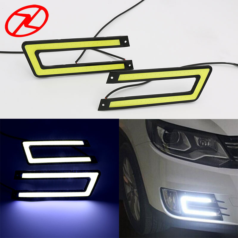 U Shape DRL Super bright LED Daytime Running Light COB Waterproof Day Light Headlight Fog Lamp Auto Car Driving Light 12V(China)