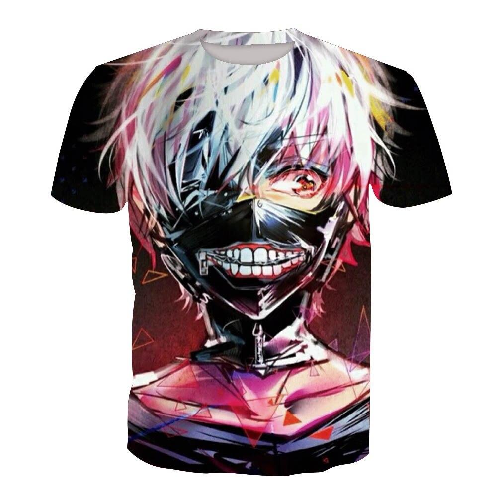 Tokyo Ghoul Ken Kaneki Cosplay T shirt 3D Print T-shirts Men Women Short Sleeve Summer Tees Tops For Halloween Party Luxtees (5)
