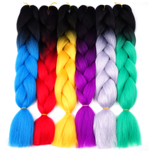 Silky Strands 24'' 100g Ombre Synthetic Braiding Hair Extensions For Crochet Braids Kanekalon Jumbo Braids Two Tone Ombre Color