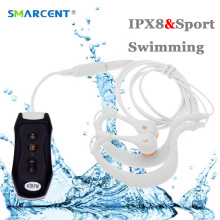 SMARCENT 8GB 4GB IPX8 Sports Waterproof Mp3 Player Earphone Mp3 for Swimming Underwater Surf Scuba Diving with FM Clip Mp3 Music(China)