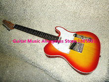 Wholesale guitars Cherry Burst Electric Guitar rosewood fingerboard high quality OEM cheap(China)