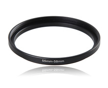 55-58mm Metal Camera Lens Filter Adapter Ring Thread Male 55mm to Female 58mm Step Up Mount UV CPL ND Filter