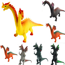 ECRODA Jurassic World Dinosaur Models Cartoon Double Head Dinosaur Children Toys Creative Home Decoration Dinosaur one piece(China)