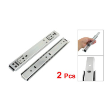 "2 Pcs x 8"" 2-fold Ball Bearing Telescopic Cabinet Drawer Slide Rails(China)"