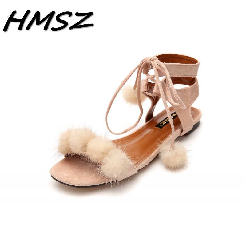 Fashion Women Girls Flat Shoes Strappy Summer Sandals Cross Over Shoes Plus Size
