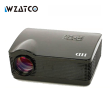 WZATCO Best Android 4.4 Wifi Smart HD TV Video lcd Proyector Beamer Led 3D Projector 1080P Full HD 5500Lumens for home theater