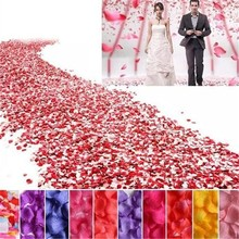 Wedding Events Decoration 500pcs Silk Rose Petals Table Artificial Flowers Engagement Celebrations Party Supplies(China)