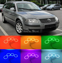 For  Volkswagen VW Passat B5.5 3BG 2001 2002 2003 2004 2005 Excellent RGB led Angel Eyes kit Multi-Color Ultra bright Halo Rings