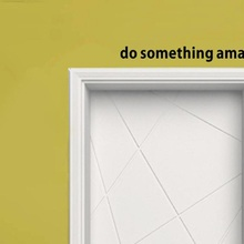 Hot Selling Do Something Amazing Decal Living Room Bedroom Vinyl Carving Wall Decal Sticker Fast Shipping Apr27