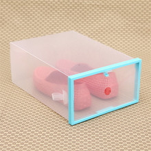 shoe storage box Foldable Stackable Clear Plastic Drawer Case Organizer Box Holder Shoe Storage Collection Container Case