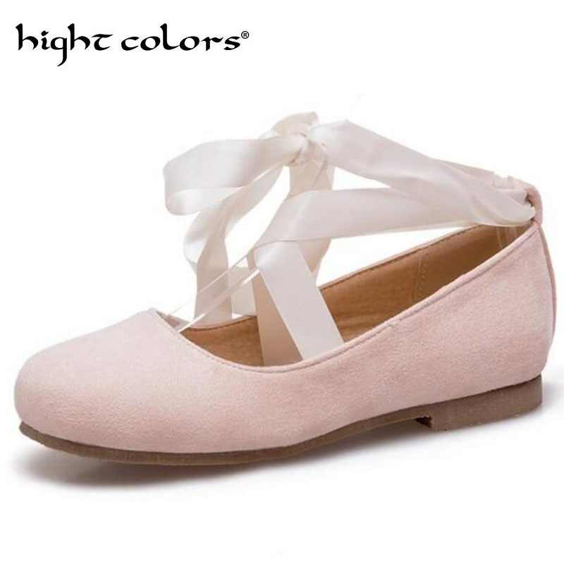 Women Flat Loafers Lady Ballet Flats Sweet Ribbon Bow Tie Casual Boat Shoes  Women s Flats Solid 538640980f05