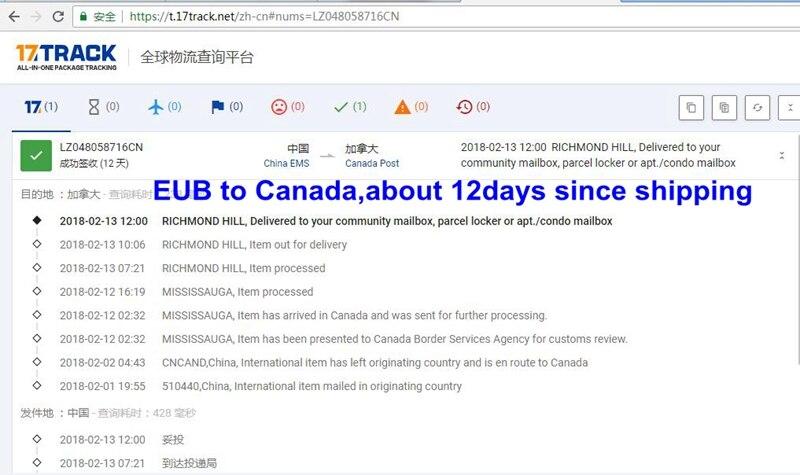 EUB TO CANADA 12DAYS