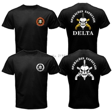 New BOPE Elite Death Squad Brazil Special Force Unit Military Police Men's T Shirt Fashion Summer Cotton Tee Both Sides Printing