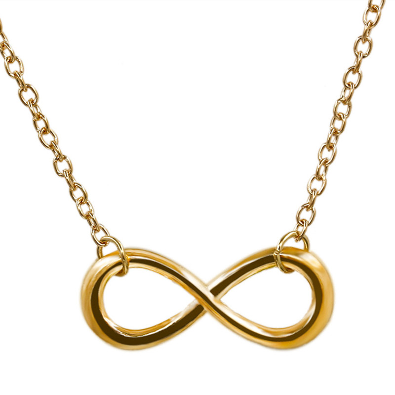 N609-Clavicle-Necklace-Gold-Silver-Plated-Geometric-Infinity-Pendant-Necklaces-For-Women-Wedding-colar-maxi-Jewelry