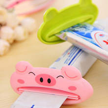 6Pcs/Set Bathroom Home Tube Rolling Holder Squeezer Easy Cartoon Toothpaste Dispenser Toothbrush Holders Frog Beer Panda Pig(China)