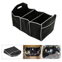 Black Car Trunk Organizer Collapsible Toys Food Storage Truck Cargo Container Bags Box Car Stowing Styling Auto Accessories(China)