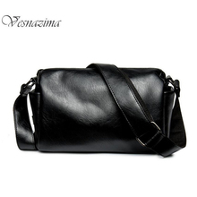 VZ 2017 men crossbody bags pu leather boy shoulder bag black man causal travel bucket bag side handle with high quality WM244LH