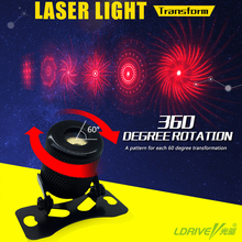 1XCar Laser Fog Light Anti Collision Rear-end Car Laser Tail Lamp Car Brake Warning Light 6 Patterns Transform Quality Assurance