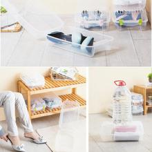 Clear Plastic Mens Shoes Stackable Shoe Box Travel Storage Container Organiser  Holder Dustproof Shoe Organizer Shoe Storage Box